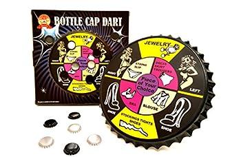 Barwench Games  Bottle Cap Darts Party Game Bottle Cap Magnetic Dart Board  Striptease