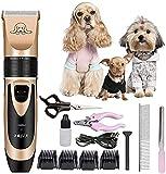 WSYGHP 12 Teile/Satz Haustier Hund Haarschneider Hund Pflege elektrische Haarschneider Ultra-Ruhe Haustier Haarschneider für Hund Katze Kleintier Kleintier rasierer