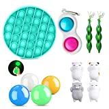 Shubiao Fidget Toys Pack Juguete para aliviar el estrés para niños y adultos Relajarse el estrés Sensorial Fidget Bubble Fidget Luminosas Bolas de Pared Pegajosas para Niños y Adultos