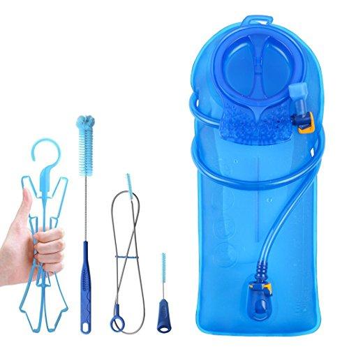 TAGVO Vessie d'hydratation 2 litres sans BPA 70 oz + Kit de Brosse de Nettoyage, vessie étanche à l'eau avec Valeur de Fermeture et buse d'aspiration, kit de Nettoyage Facile avec Brosse de Nettoyage
