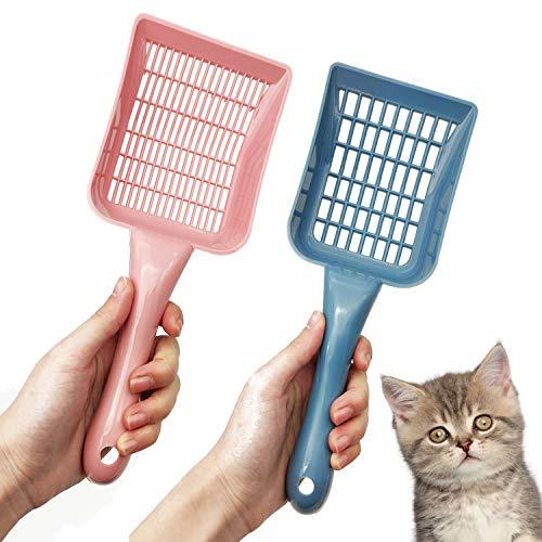 BPS 2X Pala para Arena de Gato para Recoge Excrementos Limpieza para Mascotas Color al Azar BPS-2331 * 2332