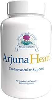 Ayush Herbs Arjuna Heart, Herbal Supplement for Heart Support, Heart-Protection Capsules for Men and Women, 90 Vegetarian ...