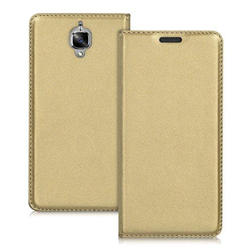 kwmobile Cover Compatibile con OnePlus 3 / 3T - Custodia a Libro in Simil Pelle PU per Smartphone - Flip Case Protettiva