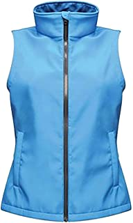 RIDDLED WITH STYLE Womens Soft Shell Bodywarmer Ladies Sleeveless Full Zip Vest Plain Casual Wear Outerwear