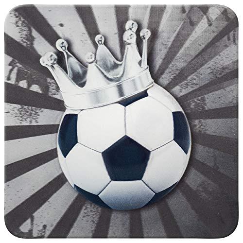 Sheepworld - 45896 – Posavasos, 3D, fútbol, D24, corcho, 9,5 cm x 9,5 cm.