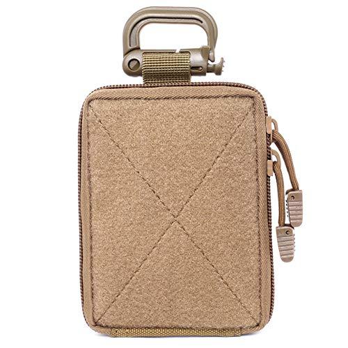 Usuit Taktische Molle Erste-Hilfe-Tasche – Militärische Mini-Größe, EDC Utility Pouch Taschen, medizinische Organizer, Aufbewahrungstasche, Hüfttasche, Khaki