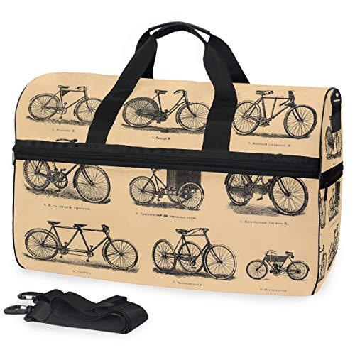 FANTAZIO Bolsa de Deporte para Pintar Bicicletas, Estilo Vintage, Plegable, Ligera, Resistente...