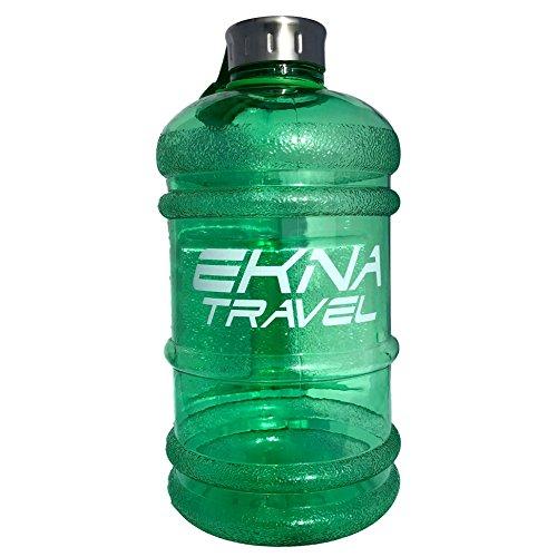 EKNA Bottle | 2.2 Liter | Wasserflasche | Trinkflasche | Wasser Gallone | Ideal für den täglichen Wasserbedarf | Für den Alltag, Fitness oder Reisen | BPA Frei | Mit Füllstandsanzeige (Grün)