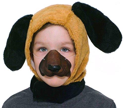 Forum Novelties Child Size Animal Costume Set, Dog Hood and Nose Mask