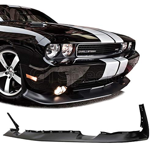 GT-Speed - SRT Style PU Front Bumper Lip - Compatible With 2011-2014 Dodge Challenger Factory Bumper