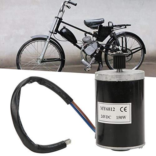 FOLOSAFENAR Motor de Cepillo de 24V DC Motor de sincronización Estable Robusto, para Bicicletas eléctricas