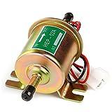 12V Universal Electric Fuel Pump HEP-02A for Carburetors Cars Trucks Boats Generators, Inline Low Pressure 3-6 PSI Bolt Fixing Wire Diesel Petrol