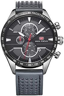 Mini Focus Mens Quartz Watch, Chronograph Display and Leather Strap - MF0002G.04