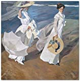 Joaquín Sorolla Walk by the sea - Paint by Numbers DIY Oil Painting - Canvas Print Wall Art Home Decoration 16 x 20 inch (Sin marco)