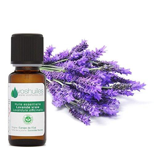 Huile Essentielle de Lavande Vraie (Lavandula angustifolia) - 100% Pure et Naturelle - HEBBD - Idéal en Diffusion - Utilisation Polyvalente - 10 ml - VOSHUILES