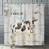 "Silly Goose Gifts Kunstdruck ""I Will Love You Till The Cows Come Home"", Aquarell-Design, Wanddekoration Set Kuh 8x10in Duschvorhang Herd"