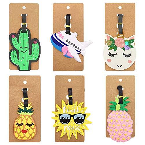 6 Piezas Etiquetas de Equipaje de Viaje,Identificador de Maletas,ID Tag Portatarjetas,Bolsa de Identificación de Viaje de Maleta única Titulares de Etiquetas de Etiquetas,Porta Identificadores de PVC