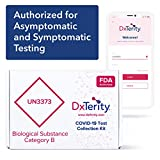 DxTerity COVID-19 Saliva at-Home Collection Kit with Prepaid Express Return Shipping and Laboratory PCR Testing