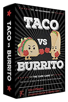 Taco vs Burrito - The Wildly Popular Surprisingly Strategic Card Game Created by a 7 Year Old - A Perfect Family-Friendly Party Game for Kids Teens & Adults!
