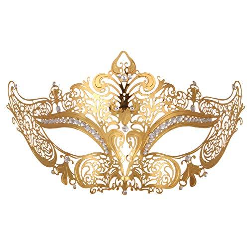 kexin lin Venezianische Maske,Masquerade Maske Metall Maskenball Masken Venedig Maske