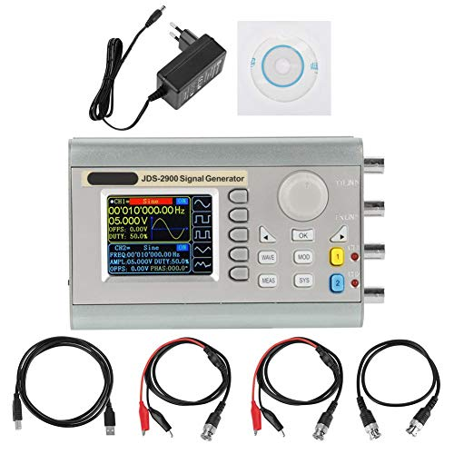Signalgenerator, JDS2900 DDS-Signalgenerator Zähler Digitale Signalquelle Digitale Steuerung Sinusfrequenz Zweikanal für elektronische Enthusiasten , etc(15MHz EU Stecker)