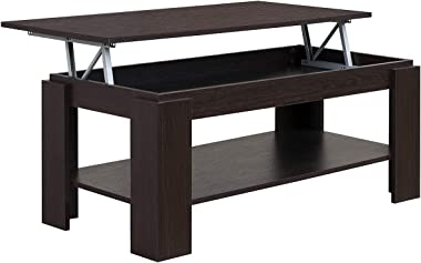 COMIFORT Mesa de Centro Elevable - Mueble con Revistero, Gran Almacenaje, Estilo Moderno, Muy Resistente, Fabricada en Europa