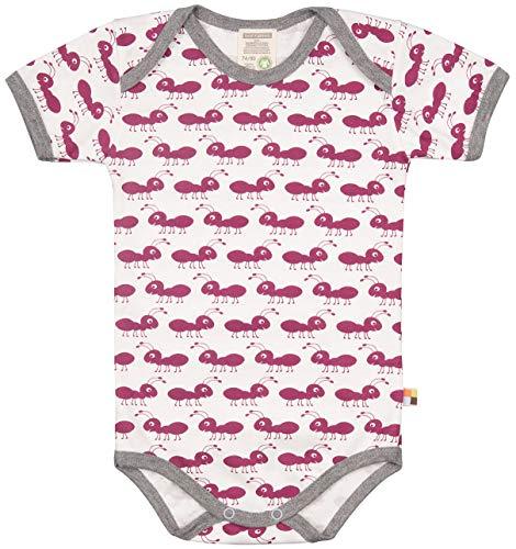 loud + proud Baby-Unisex Body Kurzarm aus Bio Baumwolle, GOTS Zertifiziert Spieler, Violett (Orchid or), (Herstellergröße: 74/80)