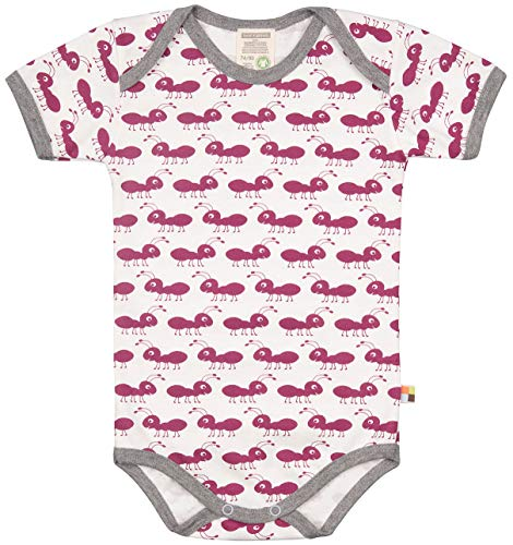 loud + proud loud + proud Baby-Unisex Body Kurzarm aus Bio Baumwolle, GOTS Zertifiziert Spieler, Violett (Orchid or), (Herstellergröße: 74/80)