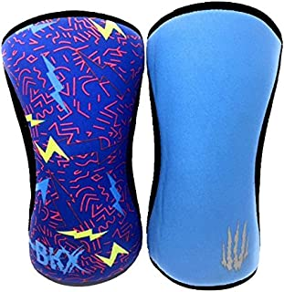 Compression Knee Sleeves, Fitness & Support for Workouts & Running. Sold in Pairs-Crossfit Training, Weightlifting, Wrestling, Squats & Gym Use. 5mm&7mm Thick, Multicolor for Men & Women