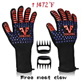 Best Insulated Barbecue And Food Gloves - VF DONGFANG BBQ Gloves Extreme Heat Resistant 1472℉,Durable Review