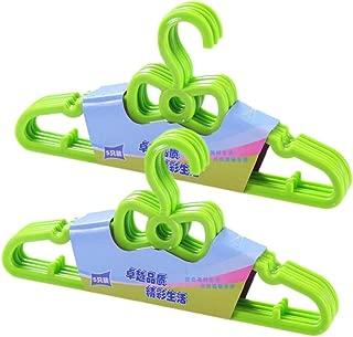 Cabilock 10PCS Clothes Hangers Durable Solid Plastic Cute Bow Childrens Suit Hangers Clothes Hanging Racks Clothes Stand