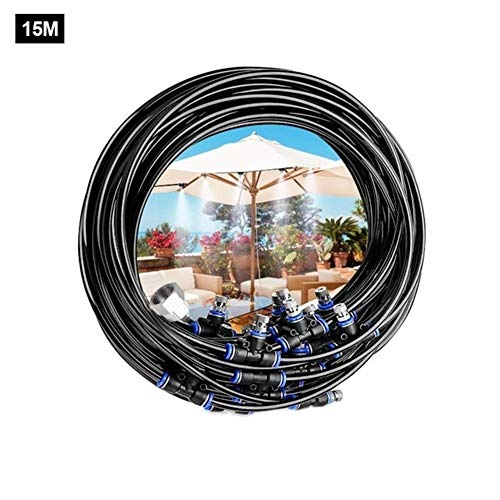 N/B Summer Outdoor Trampoline Sprinkler Atomization Cooling Set Garden Water Park Games Kid Toys Trampolines Accessories (Color : 15m)