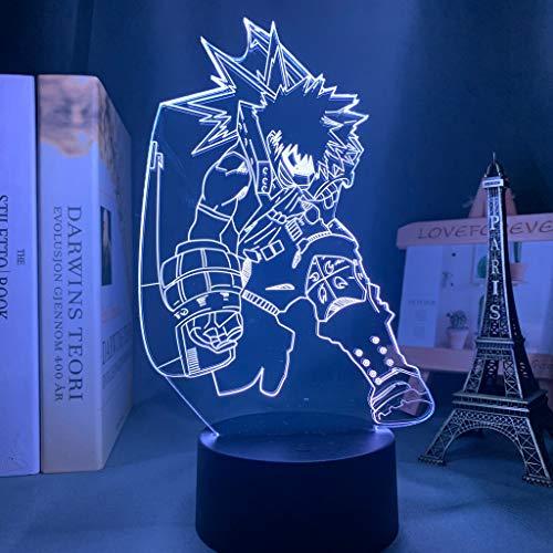 Lampe 3d Anime mon héros académique Katsuki Bakugo lampe pour chambre décoration cadeau d'anniversaire Katsuki Bakugo veilleuse LED