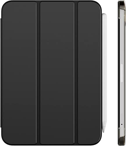 JETech Case Compatible with iPad Mini 6 (8.3-Inch 2021 Model 6th Generation) Support Pencil 2nd Generation Charging Auto Wake/Sleep Smart Cover Black