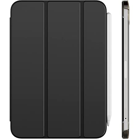 JETech Case Compatible with iPad Mini 6 (8.3-Inch, 2021 Model, 6th Generation), Support Pencil 2nd Generation Charging, Auto Wake/Sleep Smart Cover, Black