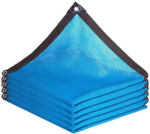 WJJ Toldos Exterior Toldo Camuflaje Paño De Sombra De La Agricultura Netificación De La Sombrilla Al Aire Libre Pantalla De Privacidad Malla con Ojales, Distancia De Hoyo 1m (Color: Azul)