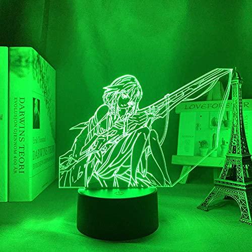 Luz De Noche 3D Anime Ilusión Luz Corona Malvada Inoriyuzuriha3D Decoración De Luz De Dormitorio Luz De Noche Regalo De Cumpleaños Mesa De Dormitorio Luz Led Anime Corona Malvada