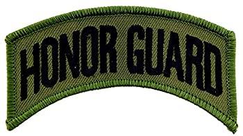 United States Army Honor Guard Tab Patch Subdued Woodland/Green with Iron-On Adhesive