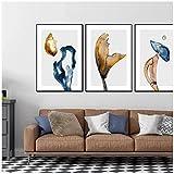 Hxsrjcc Flores De Colores Líneas De Setas Arte Abstracto Moderno Póster Imagen Impresa Arte De La Pared Pintura En Lienzo Decoración De La Sala De Estar (50X70Cmx3Pcs) Sin Marco