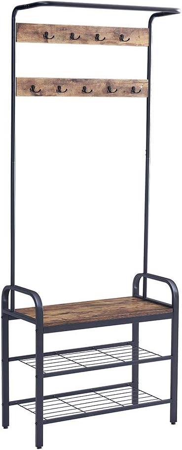 HomeSailing Home Office Espresso Coat Hat wit スーパーセール期間限定 Clothes Rack Shelf 人気の製品