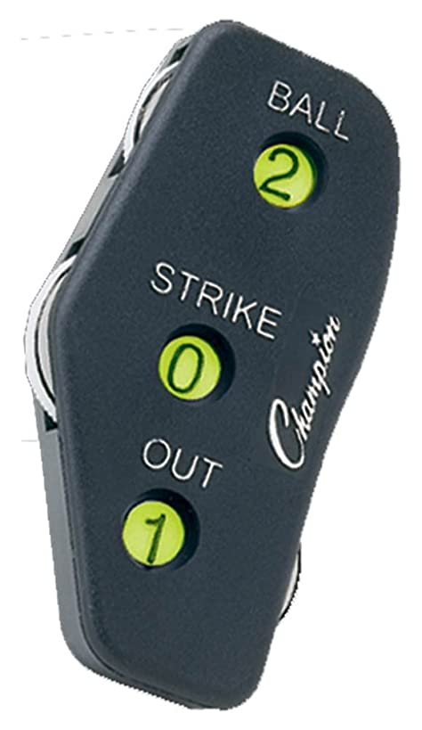 Champion Sports Umpire Indicator Black, Pack of 12