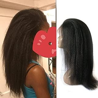 Enoya Hair Best Italian Yaki 360 Lace Frontal Wig Pre Plucked Brazilian Remy Lace Human Hair Wigs for Black Women 180 Density (14