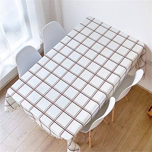 Borla Tela Escocesa Impermeable Mantel Hogar Cocina Sala De Estar Mantel Rectangular Mantel De Té 140x200cm