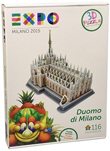 Giochi Preziosi Expo Milano 2015 - Puzzle 3D, Big Duomo/San Marco, Assortito