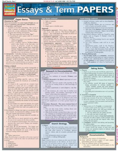 Essays & Term Papers (Quickstudy Reference Guides -...