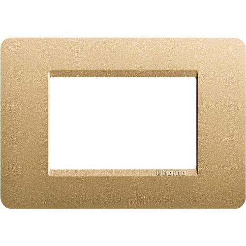 Legrand Bticino/Mx-3-Placca m, colore: oro