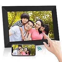 Ranipobo デジタルフォトフレーム 10.1インチ WiFi対応 タッチスクリーン 16GB内部ストレージ 1280*800高解像度 IPS視野角 自動回転 家族/友人/彼女/彼氏などへのプレゼント 日本語取扱説明書