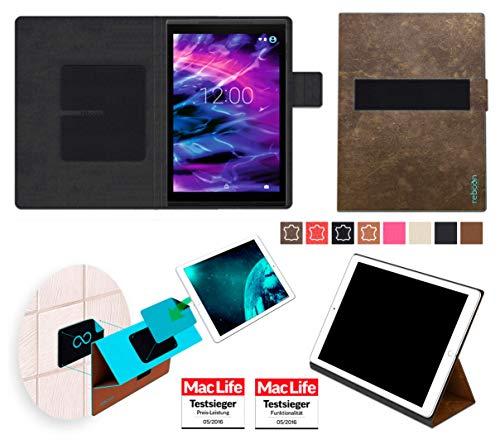 Hülle für Medion Lifetab X10311 Tasche Cover Case Bumper | in Braun Wildleder | Testsieger