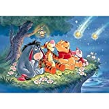 5D Diamond Painting Full Kit, 5D DIY Diamond Painting Kits for Adults Full Drill Painting Rhinestone Embroidery Pictures Cross Stitch Arts Crafts for Home Wall Decor,16'X12',Winnie The Pooh