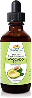 100% Pure Refined Avocado Oil 4 oz - Premium Organic Natural Cold Pressed Oil - Best for Hair Growth, Face, Skin